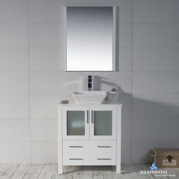 Blossom 001 30 01 1616v Sydney 30 Inch Vanity Set With Vessel Sink And Mirror In