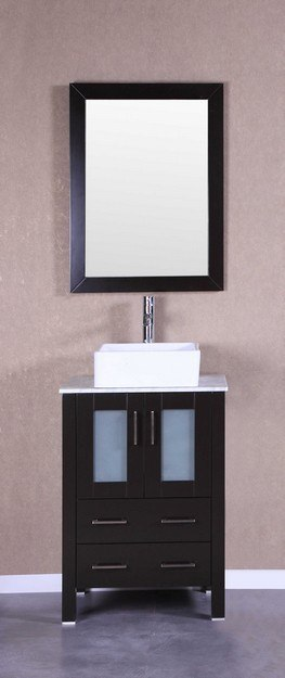 Bosconi AB124CBECM 24 Inch Single Vanity Set in Espresso