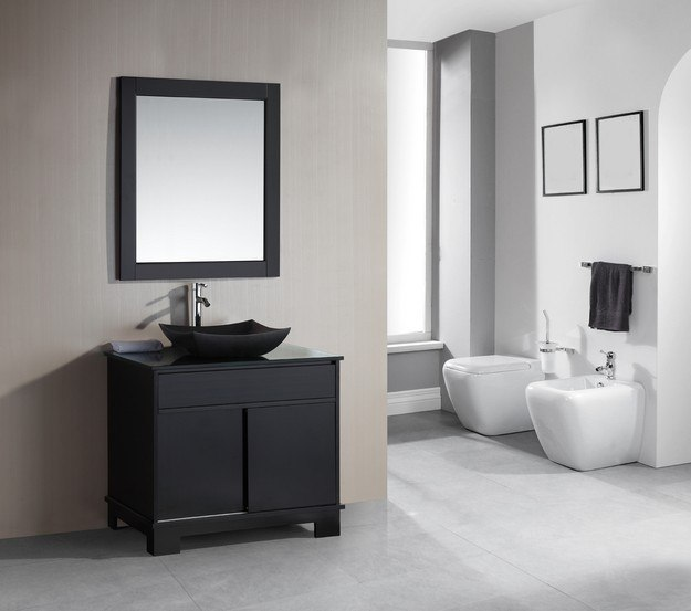 36 Inch Single Sink Bathroom Vanity With Built In Led Lighting Uvdedec1053636: Design Element DEC105-72 Oasis 72 Inch Double Sink Vanity Set With Decorative Drawer In Espresso