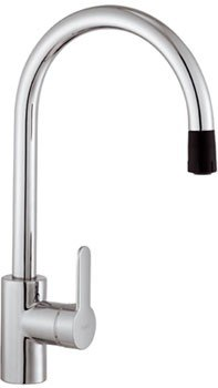 Franke FF-1680 Series Side-Lever Faucet with Pull-Out Head w/ Spray in Satin Nickel