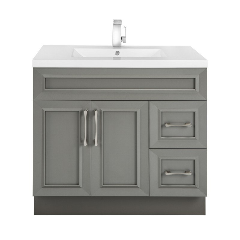 Cutler Kitchen And Bath Ccftr36rht Classic Collection 36 Inch Bathroom Vanity In Fossil