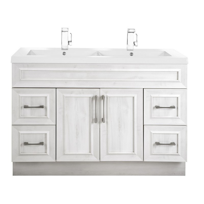 Cutler Kitchen And Bath Cctrfh48dbt Classic Collection 48 Inch Bathroom Vanity With Double Bowl Top In