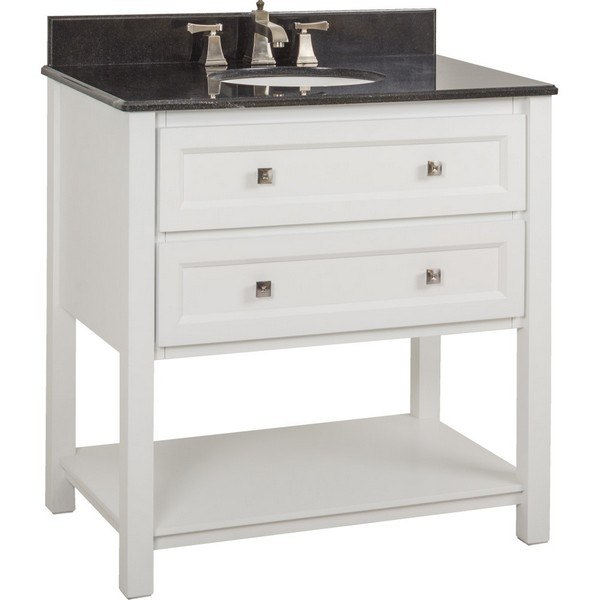 Cutler Kitchen And Bath Cotsw36t Stratford Collection 36 Inch Bathroom Vanity With Quartz Top In Cottage White