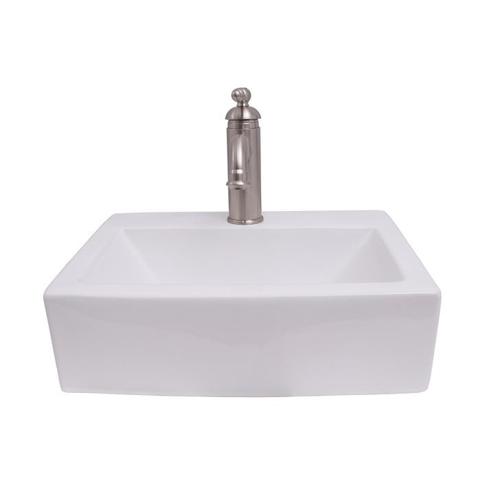 Barclay 4 1136wh Sophie 17 Inch Single Basin Wall Mount Bathroom Sink White 4 1136wh 41136wh