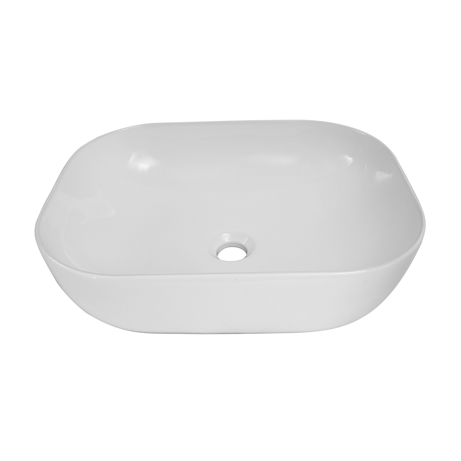 Barclay 4 450wh Kendra 19 1 2 Inch Single Basin Above Counter Bathroom Sink White 4 450wh 4450wh