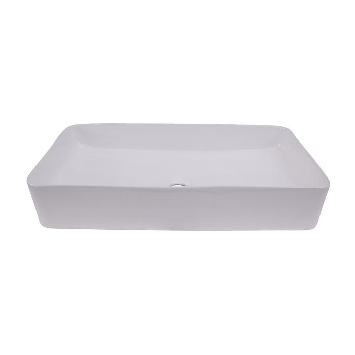 BARCLAY 4-455WH LEDUC 23 5/8 INCH SINGLE BASIN ABOVE COUNTER BATHROOM SINK - WHITE