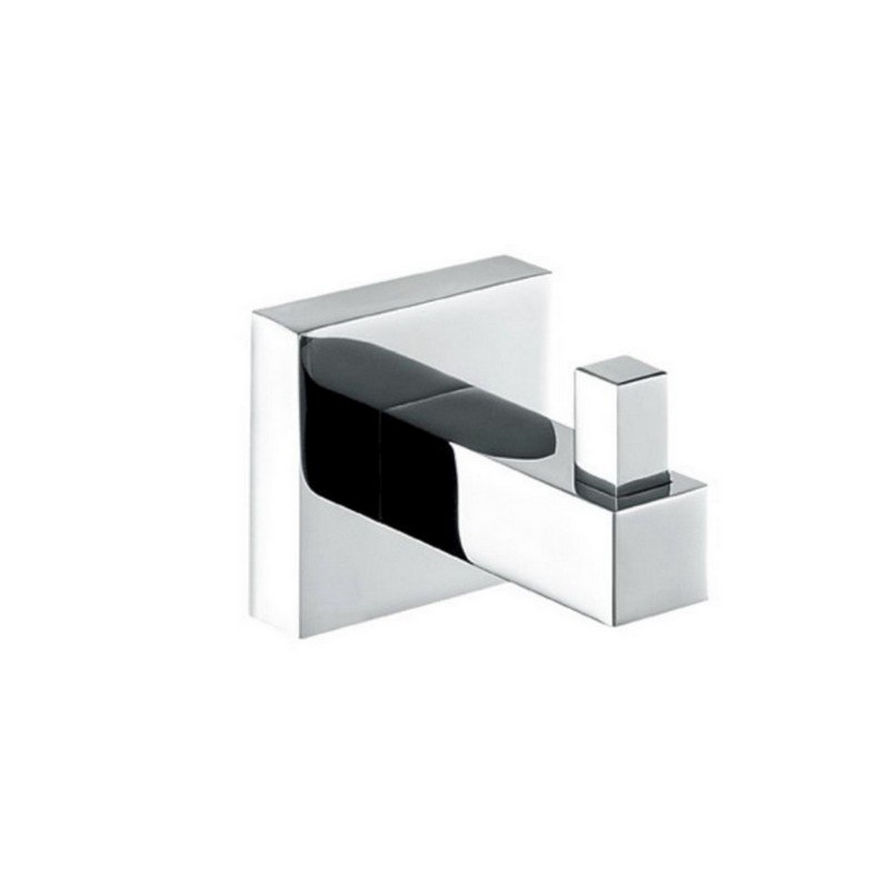 KUBEBATH 93604 AQUA PIAZZA ROBE HOOK IN TRIPLE CHROME