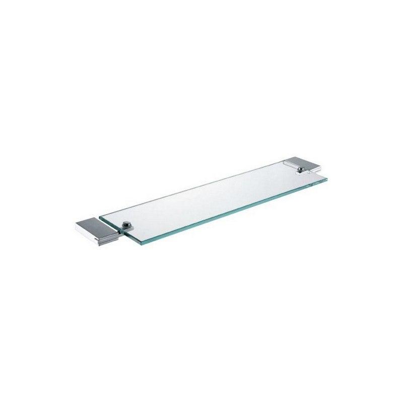 KUBEBATH 94007 AQUA FINO GLASS SHELF IN TRIPLE CHROME