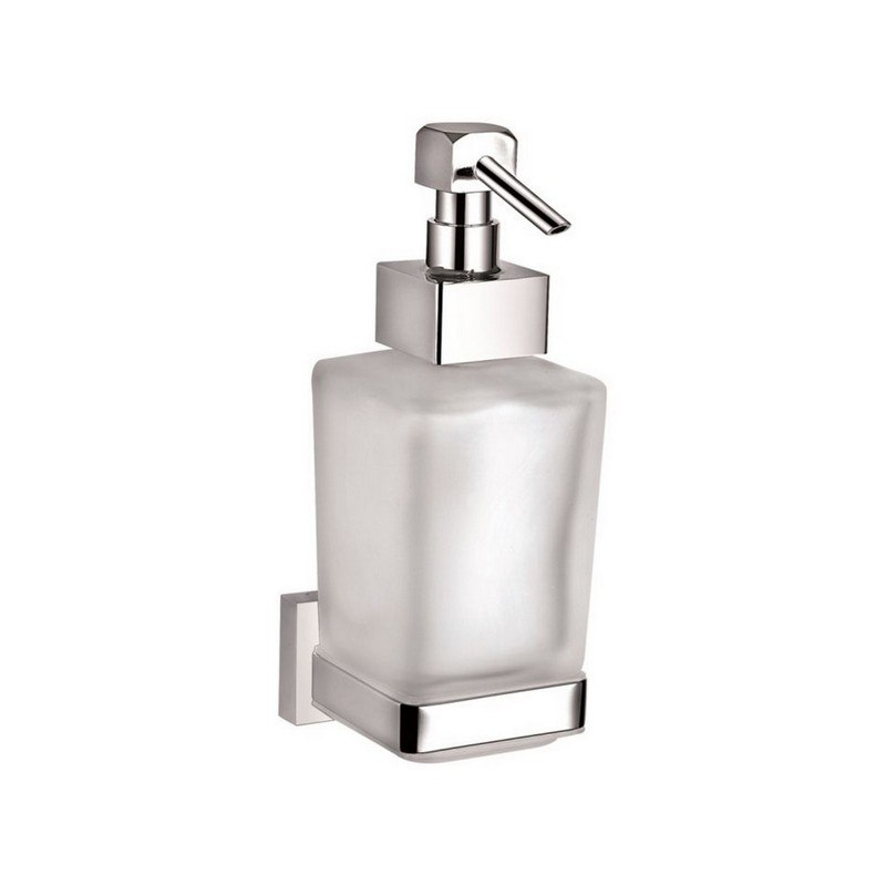 KUBEBATH 9733 AQUA PLATO WALL MOUNT SOAP DISPENSER IN TRIPLE CHROME