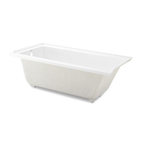 SWISS MADISON SM-DB559 VOLTAIRE 60 X 30 INCH ACRYLIC RECTANGULAR DROP-IN BATHTUB IN WHITE WITH LEFT-HAND DRAIN