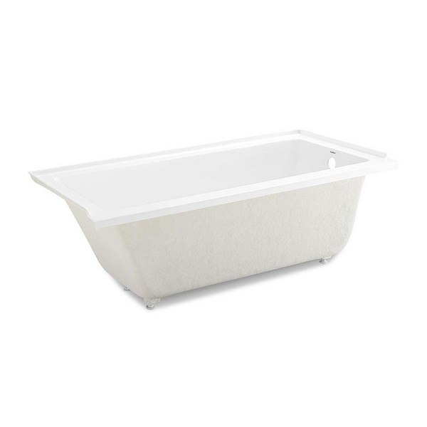 SWISS MADISON SM-DB560 VOLTAIRE 60 X 30 INCH ACRYLIC RECTANGULAR DROP-IN BATHTUB IN WHITE WITH RIGHT-HAND DRAIN