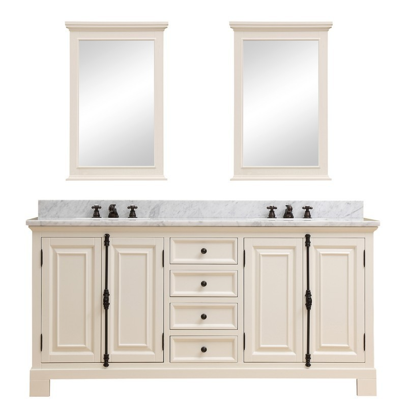Double Sink Bathroom Vanity, Antique White Bathroom Cabinets