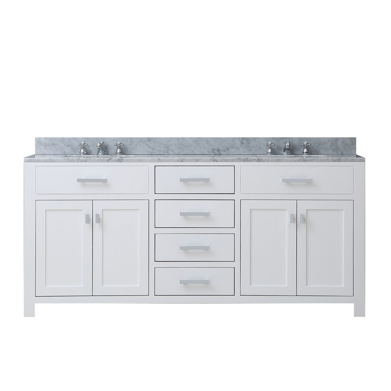 Contemporary Office Interior Design, Water Creation Madison72w Madison 72 Inch Pure White Double Sink Bathroom Vanity