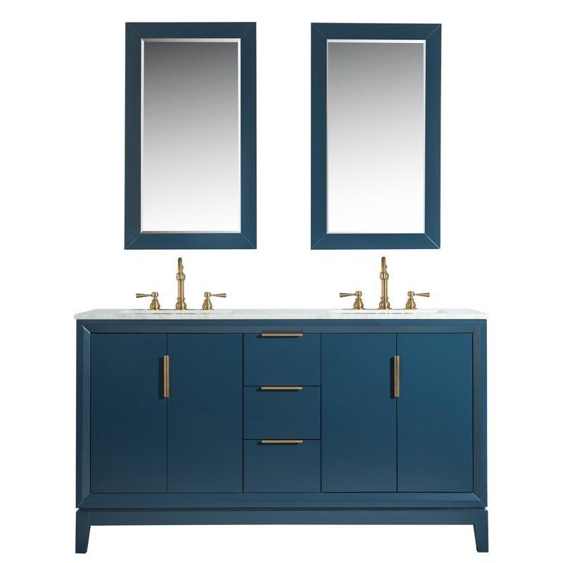 Water Creation Vel060cwmb00 Elizabeth 60 Inch Double Sink Carrara