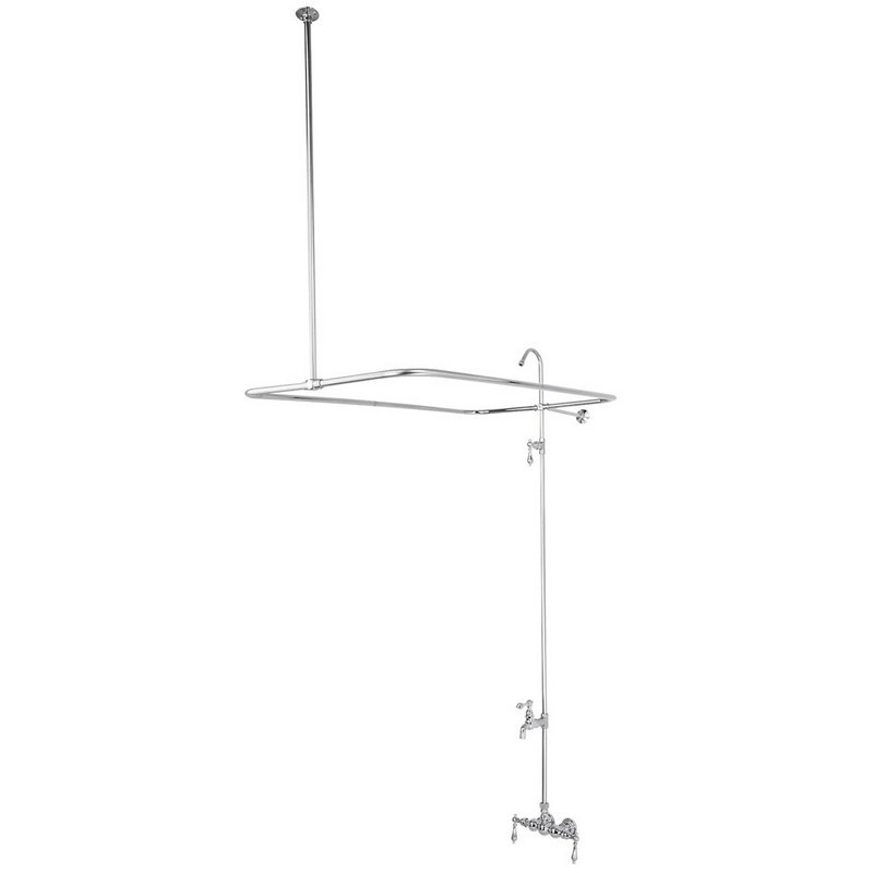 KINGSTON BRASS CC62T1 VINTAGE 3-3/8 INCH WALL MOUNT TUB FILLER IN POLISHED CHROME