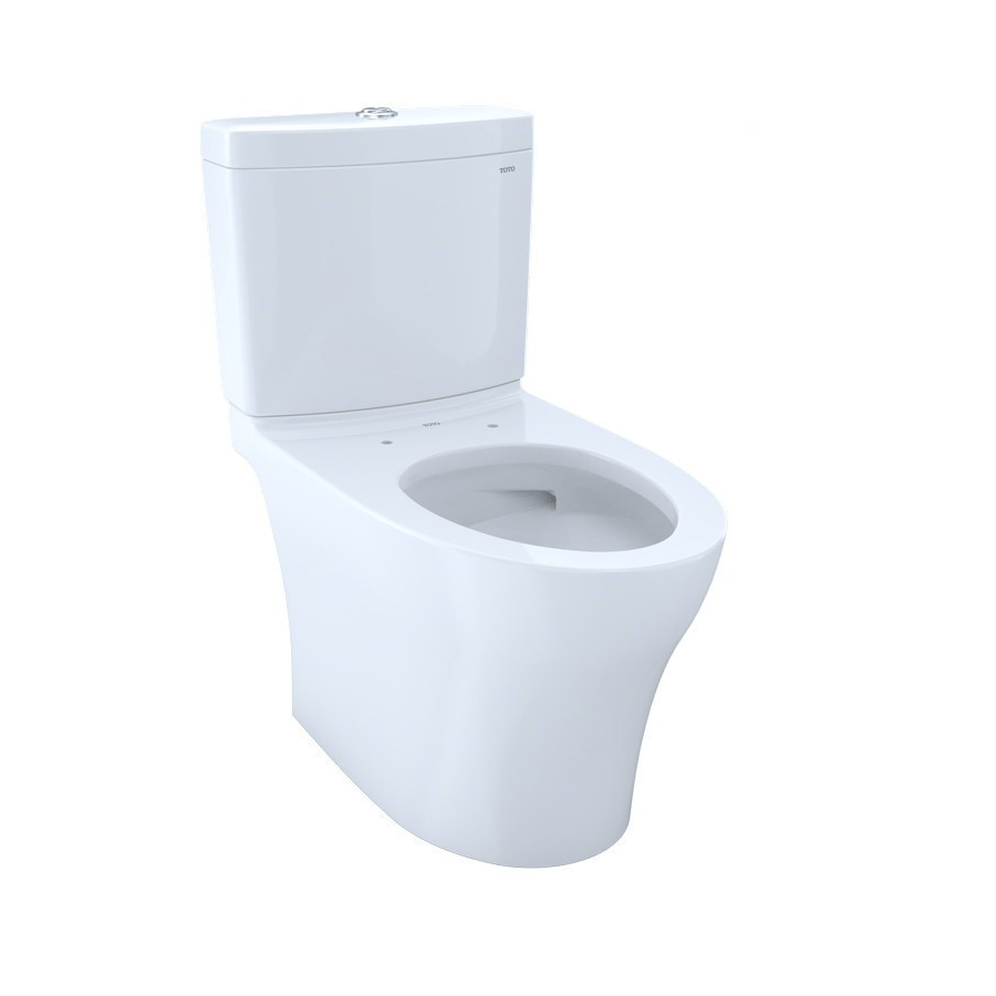 TOTO CST446CEMFG#01 AQUIA IV TWO-PIECE ELONGATED DUAL FLUSH 1.28/0.8 GPF TOILET WITH CEFIONTECT IN COTTON WHITE