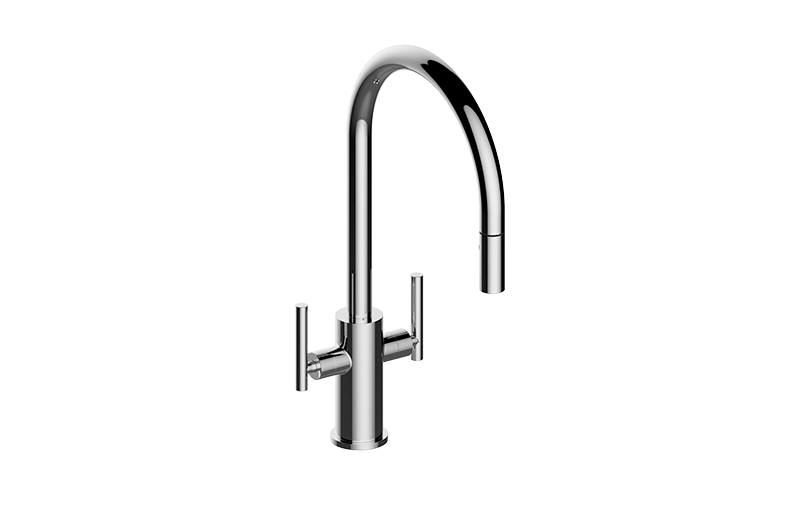 GRAFF G-4670-LM49K SOSPIRO CONTEMPORARY TWO-HANDLE SINGLE-HOLE KITCHEN  FAUCET
