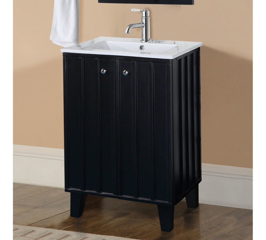 Infurniture In3124 B 24 Inch Single Sink Bathroom Vanity With