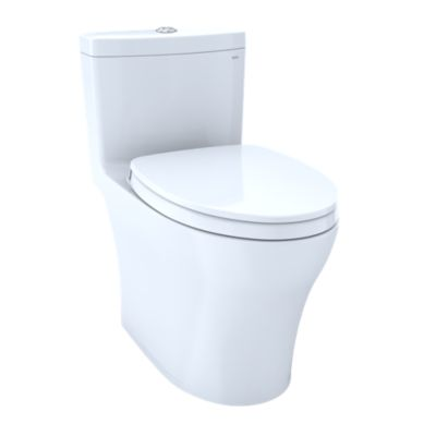 TOTO MS646124CUMFG AQUIA IV ONE-PIECE ELONGATED DUAL FLUSH 1.0/0.8 GPF WITH CEFIONTECT UNIVERSAL HEIGHT,WASHLET+ READY TOILET