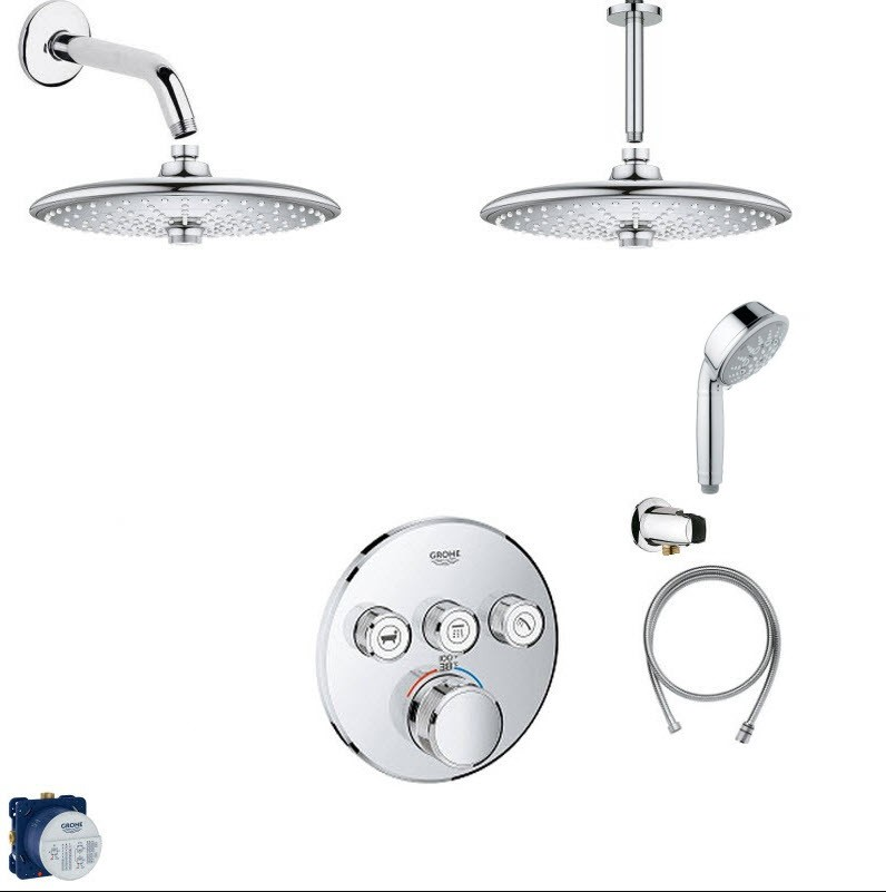 GROHE SMART SHOWER COMBO PACK SHOWER SYSTEM
