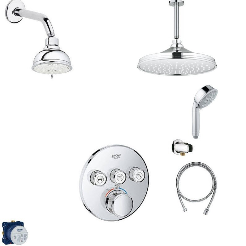 GROHE SMART SHOWER COMBO PACK II SHOWER SYSTEM