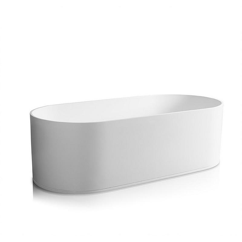 JEE-O SBM068 SOHO 70.87 INCH FREESTANDING BATHTUB WITH OVERFLOW IN WHITE