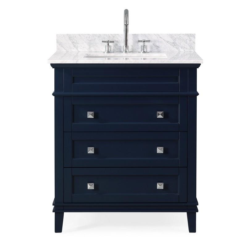 Chans Furniture Zk 1810 V30nb 30 Inch Tennant Brand Felix Modern Style Navy Blue Bathroom Vanity