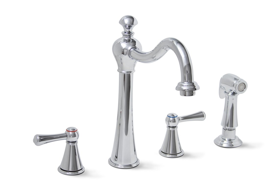 Premier 120027lf Sonoma Lead Free Two Handle Kitchen Faucet With Matching Side Spray Chrome