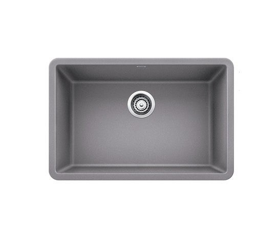 Blanco 522428 Precis Granite 27 Inch Kitchen Sink in Metallic Gray