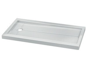 Fleurco ABF3260 Quad 32 x 60 Inch In-Line Acrylic Shower Base with Side Drain
