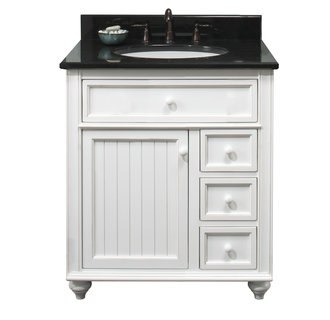 Sagehill Designs CR3021D Antique White Cottage Retreat 30 Inch Vanity Cabinet with 3 Drawers