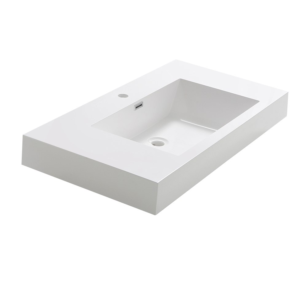 FRESCA FVS8005WH VALENCIA 40 INCH WHITE INTEGRATED SINK/COUNTERTOP