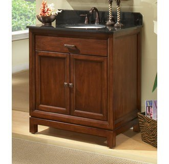 Sagehill Designs MD3021D Contemporary Chamfer Edge Styling Modena 30 Inch Solid Maple Wood Vanity Cabinet