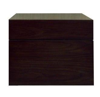 Sagehill Designs MT1818D Walnut Modesta Walnut 18 Inch Wall Mount Wood Vanity Cabinet