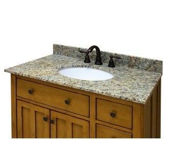 Sagehill Designs OW3722-DB Desert Beige 37 Inch Desert Beige Granite Vanity Top with 4 Inch Backsplash - Sink Included