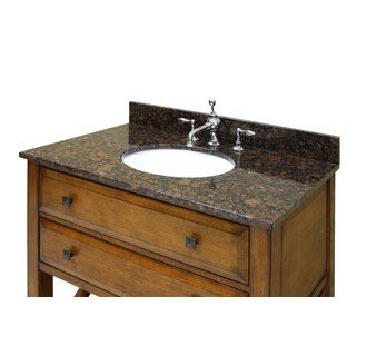Sagehill Designs OW3722-SB Sable Brown 37 Inch Sable Brown Granite Vanity Top with 4 Inch Backsplash - Sink Included