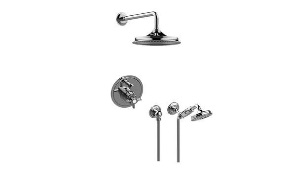 GRAFF G-7220-C16S CAMDEN PRESSURE BALANCING SHOWER SYSTEM - SHOWER WITH HANDSHOWER
