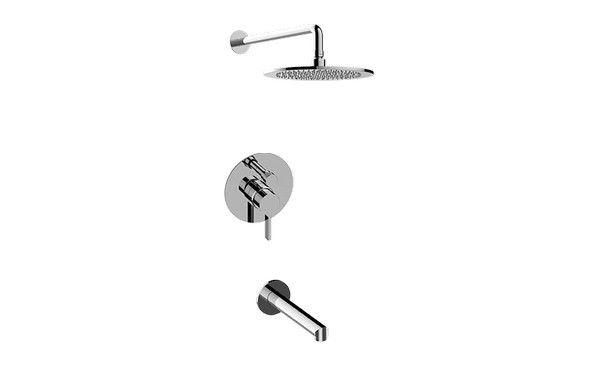 GRAFF G-7284-LM46S TERRA PRESSURE BALANCING SHOWER SYSTEM - TUB AND SHOWER