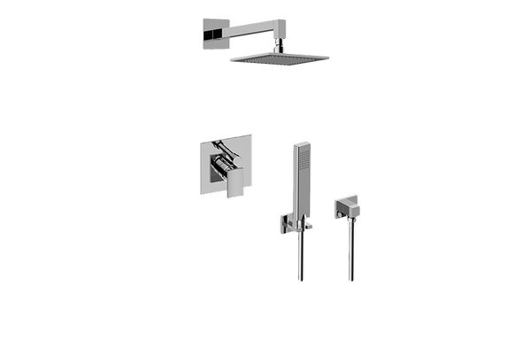 GRAFF G-7295-LM36S SADE PRESSURE BALANCING SHOWER SYSTEM - SHOWER WITH HANDSHOWER