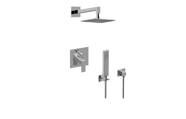 GRAFF G-7295-LM55S INCANTO PRESSURE BALANCING SHOWER SYSTEM - SHOWER WITH HANDSHOWER