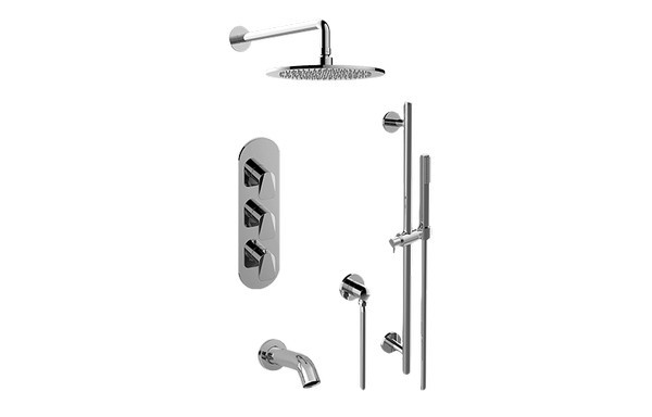 GRAFF GL3.612WT-LM59E0 SENTO FULL THERMOSTATIC SHOWER SYSTEM WITH DIVERTER VALVE (ROUGH AND TRIM)