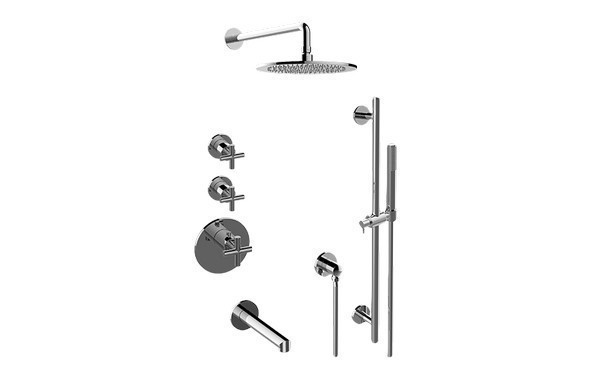 GRAFF GL3.F12ST-C17E0 TERRA THERMOSTATIC SHOWER SYSTEM TUB AND SHOWER WITH HANDSHOWER (ROUGH AND TRIM)