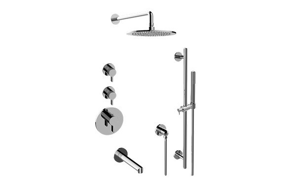 GRAFF GL3.F12ST-LM46E0 TERRA THERMOSTATIC SHOWER SYSTEM TUB AND SHOWER WITH HANDSHOWER (ROUGH AND TRIM)