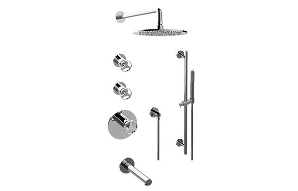GRAFF GL3.J42ST-C19E0-T HARLEY THERMOSTATIC SHOWER SYSTEM - TUB AND SHOWER WITH HANDSHOWER (TRIM)