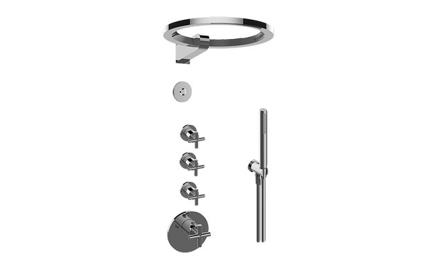 GRAFF GL4.029SC-C17E0-T TERRA THERMOSTATIC SET WITH AMETIS RING AND HANDSHOWER (TRIM ONLY)