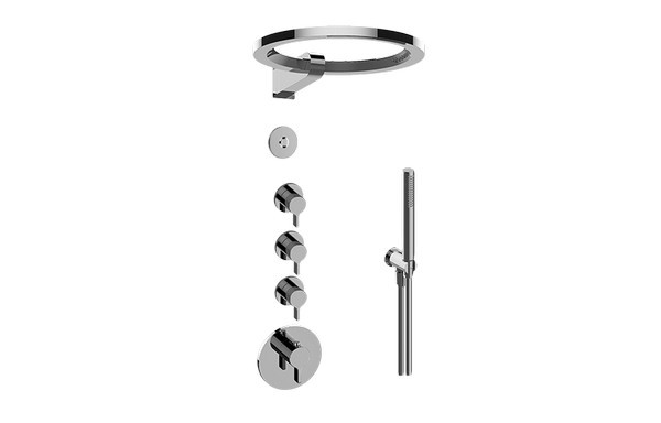 GRAFF GL4.029SC-LM46E0 TERRA THERMOSTATIC SET WITH AMETIS RING AND HANDSHOWER (ROUGH AND TRIM)