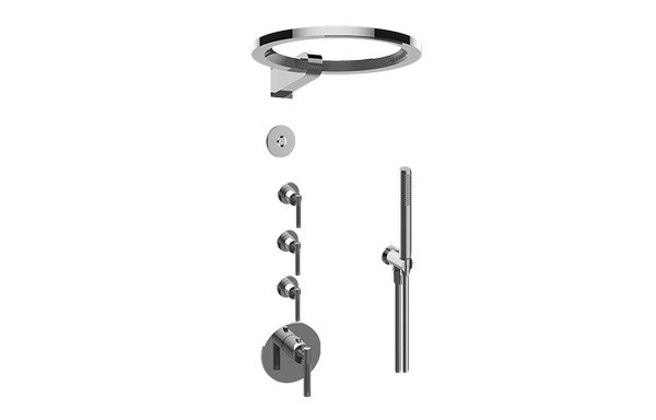 GRAFF GL4.029SC-LM57E0-T HARLEY THERMOSTATIC SET WITH AMETIS RING AND HANDSHOWER (TRIM ONLY)