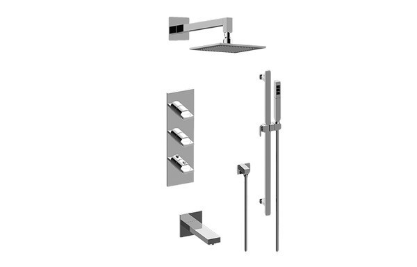 GRAFF GM3.612WT-C14E0 SADE FULL THERMOSTATIC SHOWER SYSTEM (ROUGH AND TRIM)