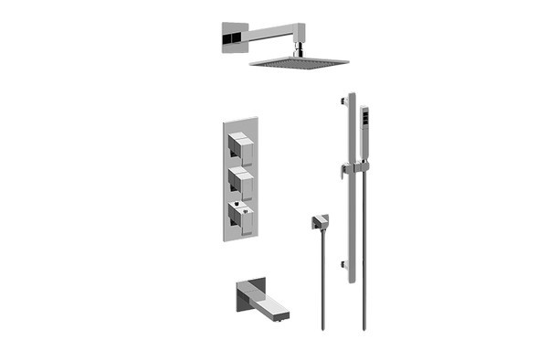 GRAFF GM3.612WT-LM38E0 QUBIC FULL THERMOSTATIC SHOWER SYSTEM (ROUGH AND TRIM)