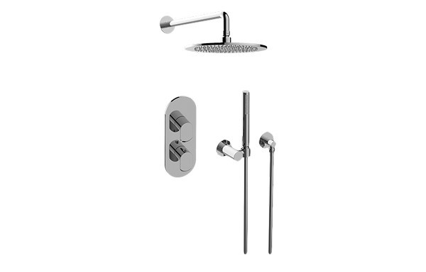GRAFF GL2.022WD-LM45E0 PHASE THERMOSTATIC SHOWER SYSTEM - SHOWER WITH HANDSHOWER